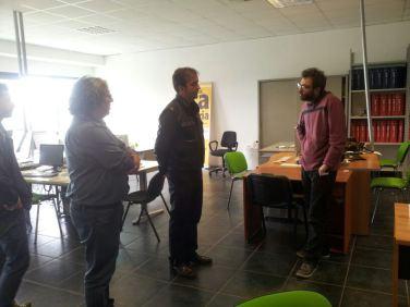 Il sindaco do Cosenza, Mario Occhiuto, in visita alla redazione dell'Ora