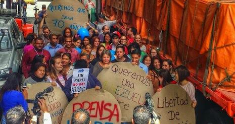 proteste giornalisti Venezuela