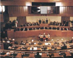 L'aula del Consiglio Regionale della Regione Sardegna