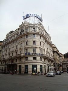 La sede del Messaggero, in via del Tritone