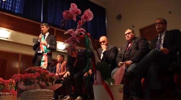 """La cerimonia di consegna  del premio """"L'Orchidea d'Argento"""", ieri a Sassano"""