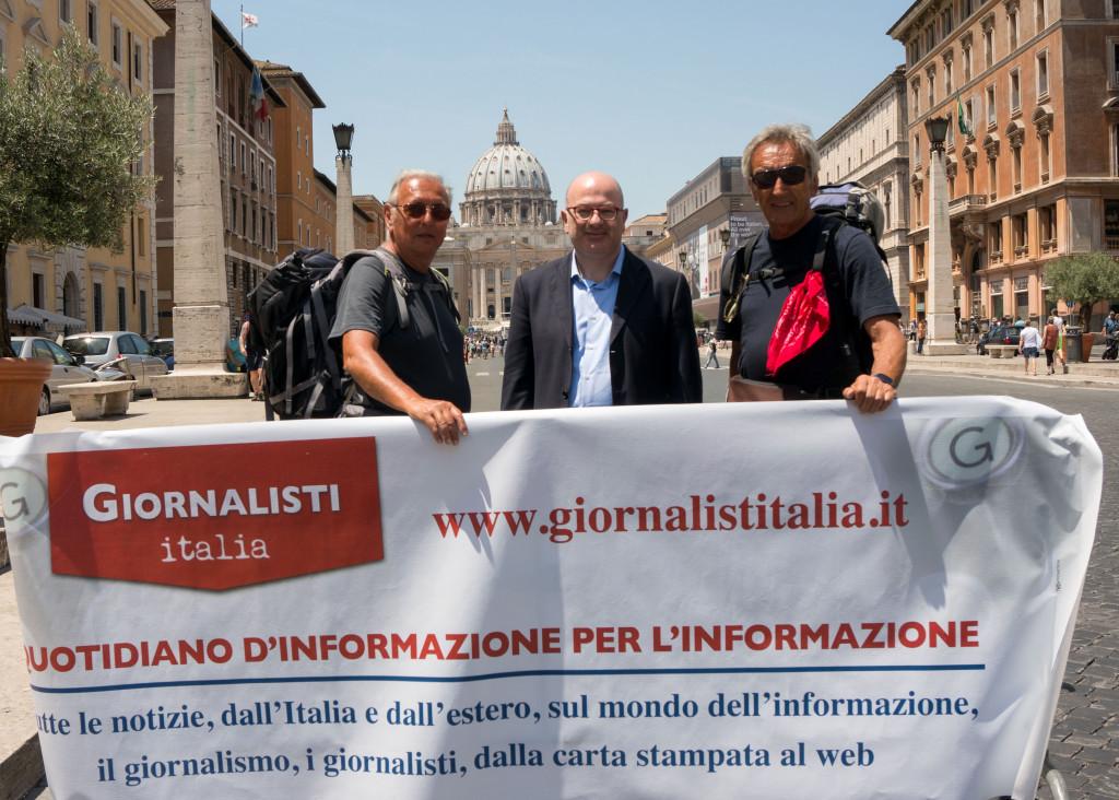 Del Boca e Moia accolti da Carlo Parisi e da Giornalisti Italia a Roma
