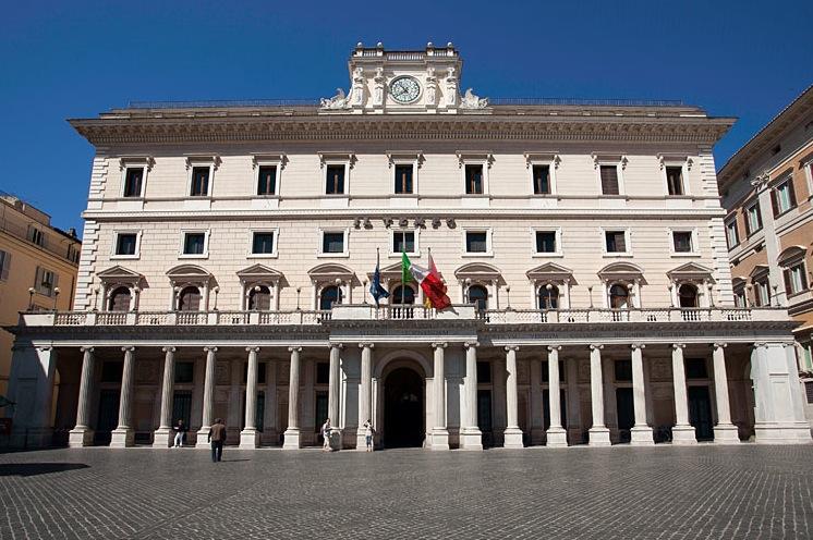 La sede del Tempo in piazza Colonna a Roma