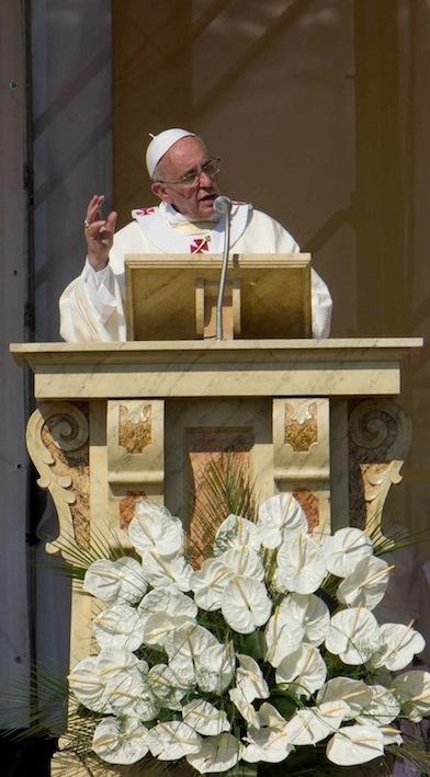 Papa Francesco celebra la Messa a Sibari