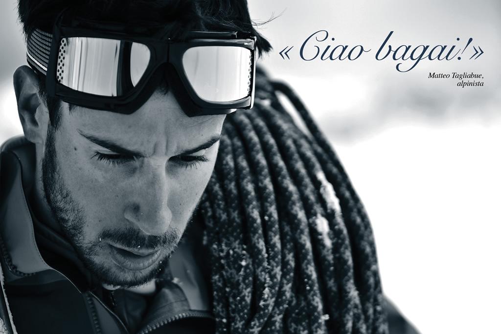 La foto di Matteo Tagliabue che sostituisce stamane l'home page del sito di Ski Alper