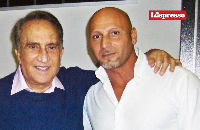 Emilio Fede ed il suo personal trainer Gaetano Francesco Ferri