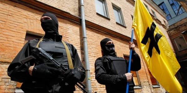 I combattenti del Settore destro in Ucraina