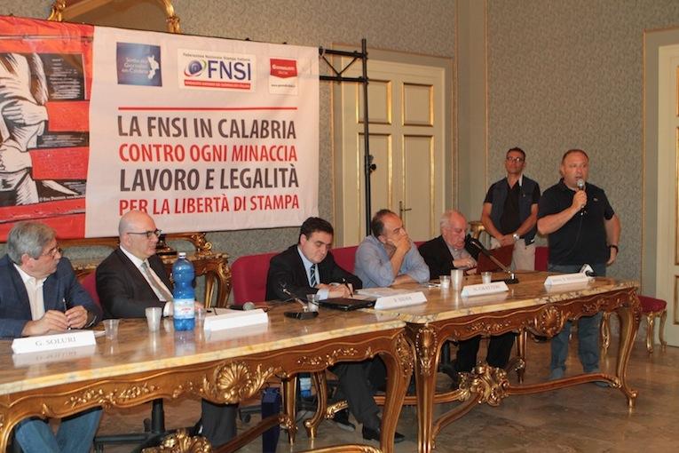 L'intervento di Michele Albanese alla manifestazione Fnsi di Polistena