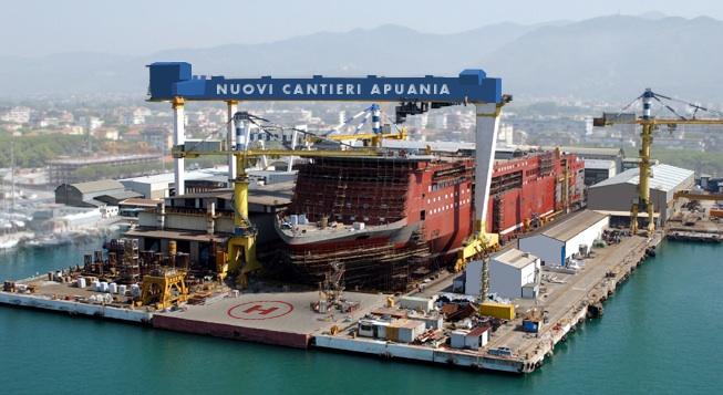 I Nuovi Cantieri Apuania a Marina di Carrara