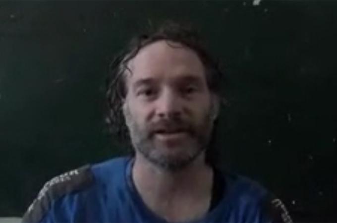 Peter Theo Curtis nell'immagine diffusa da Al Jazeera