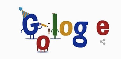 Il doodle per i 16 anni di Google