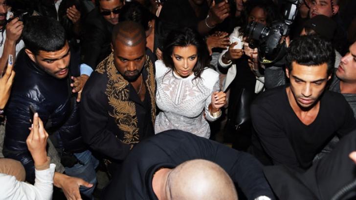 Kim Kardashian e Kanye West poco prima dell'aggressione di Sediuk