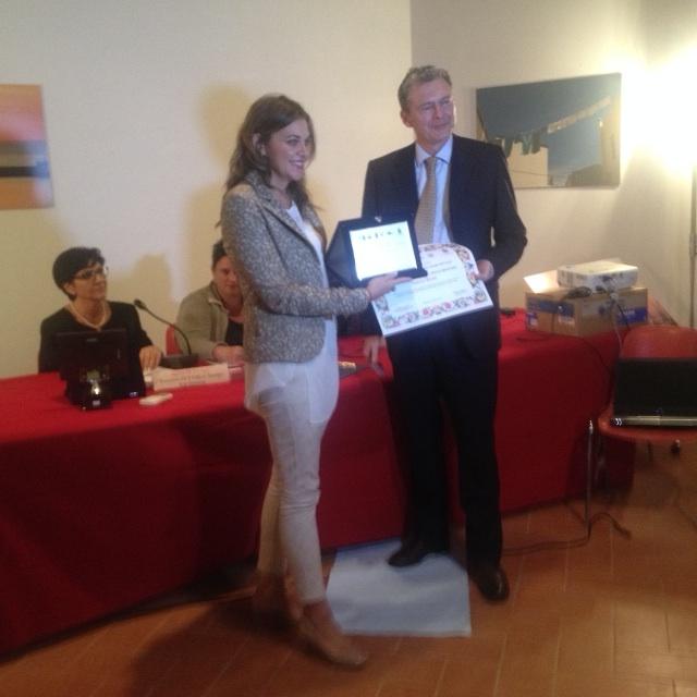 Valeria Arena riceve il premio addetto stampa dell'anno