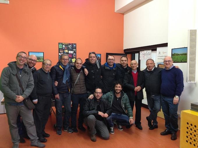 Foto di gruppo oggi al seggio di Polistena