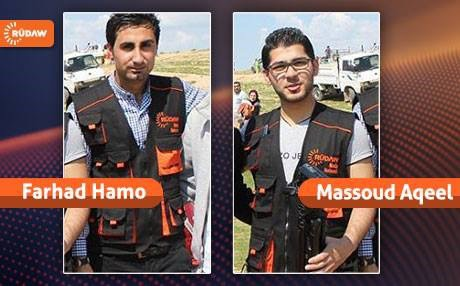 Il giornalista Farhad Hamo ed il fotoreporter Massoud Aqeel