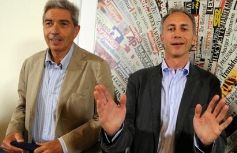 Antonio Padellaro e Marco Travaglio