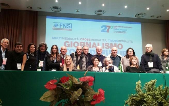 La delegazione della Calabria al Congresso Fnsi di Chianciano
