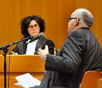 Giuliano Soria al processo a Torino