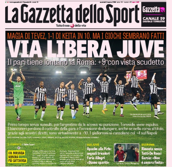 La Gazzetta dello sport è il giornale più letto in Italia secondo i dati Audipress