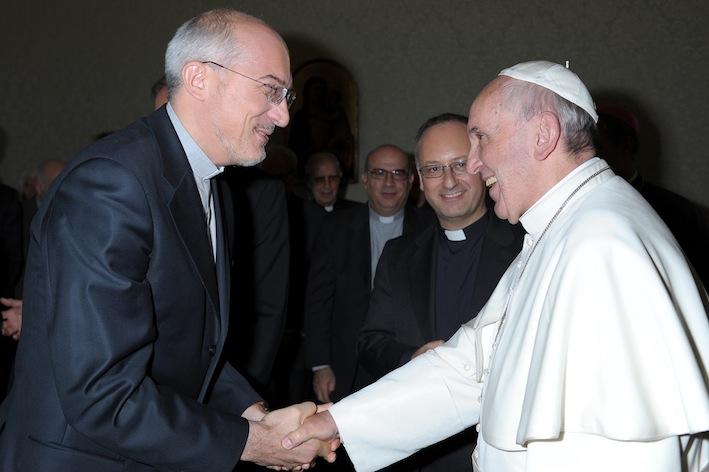 Padre Francesco Occhetta con Papa Francesco