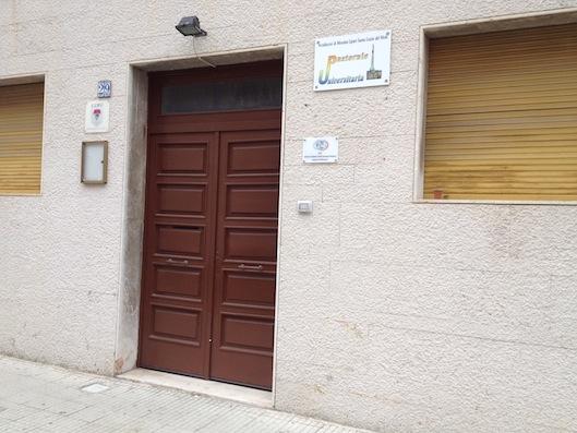L'ingresso della sede dell'Ucsi Messina