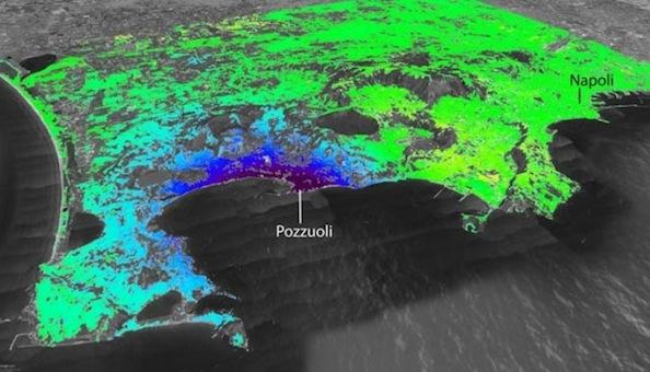 La deformazione del suolo dei Campi Flegrei vista dai satelliti Cosmo