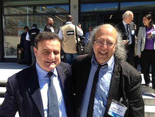Franco Siddi e Jim Boumelha (Foto Giornalisti Italia)