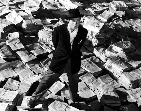 """Orson Wells in """"Quarto Potere"""""""