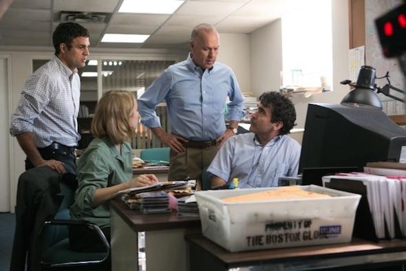 """Una scena di """"Spotlight"""", il film di Tom McCarthy che racconta l'inchiesta giornalistica del Boston Globe"""