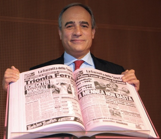Andrea Monti, da sei anni direttore della Gazzetta