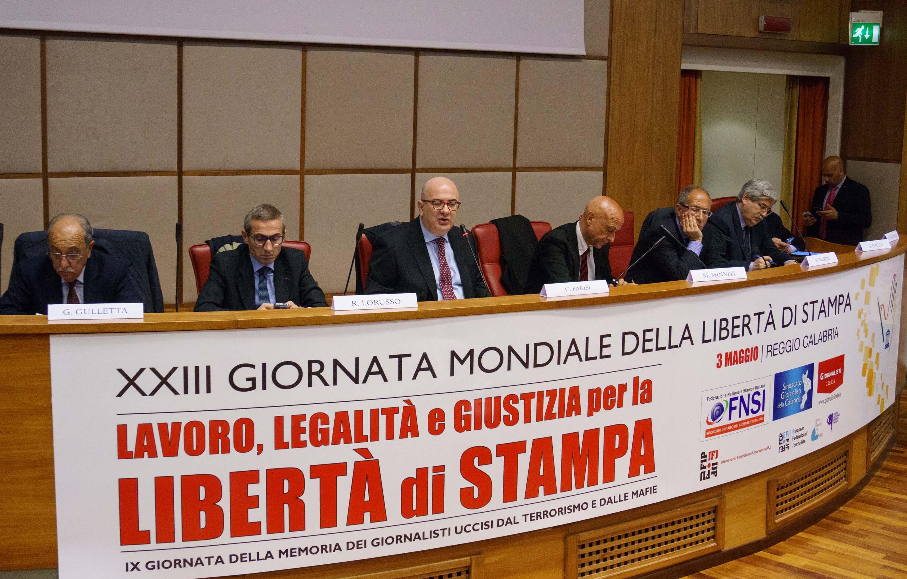 Libertà di stampa: il 3 maggio a Reggio Calabria