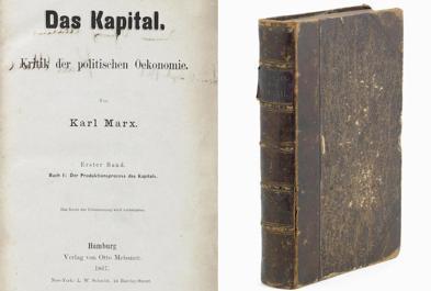 La copia della I edizione de Il Capitale battuta all'asta per 218mila sterline