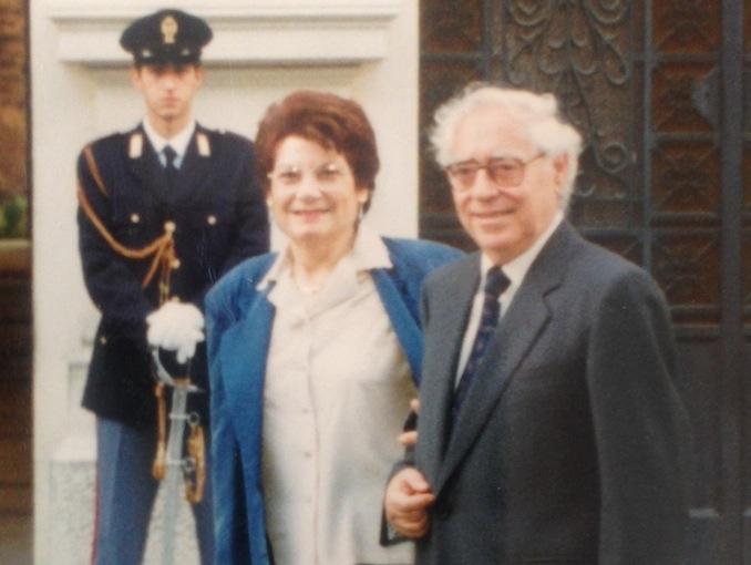 Enzo Lacaria con la moglie Gianna (Foto Giornalistitalia.it)