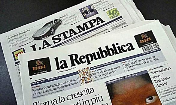 la Repubblica e La stampa