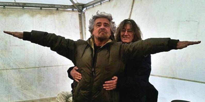 Beppe Grillo e Casaleggio