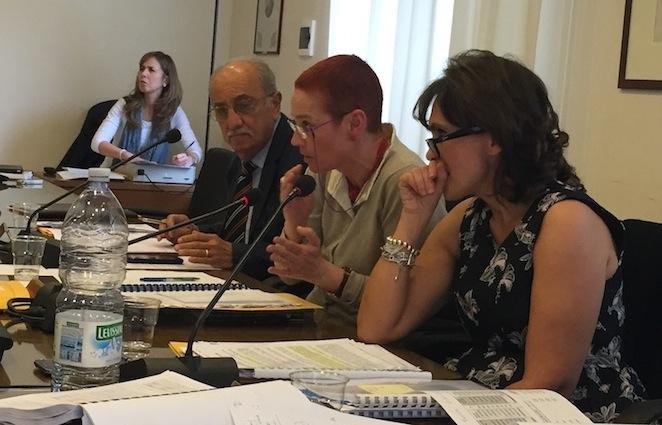 Il vicepresidente Giuseppe Gulletta, il presidente Marina Macelloni e il direttore generale Mimma Iorio (Foto Giornalisti Italia)