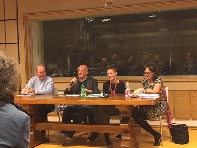 Da sinistra: Franco Picchiotti, Sandro Bennucci, Marina Macelloni e Mimma Iorio