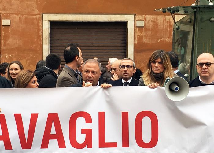 Alessia Marani, Paola Spadari, Michele Albanese, Giuseppe Giulietti, Raffaele Lorusso, Federica Angeli e Carlo Parisi