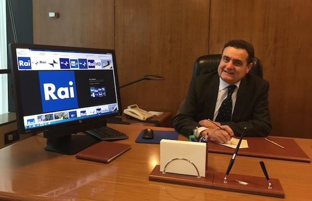 Franco Siddi nel suo ufficio di Viale Mazzini (Foto Giornalisti Italia)