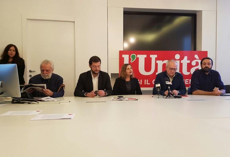 La conferenza stampa di oggi a l'Unità