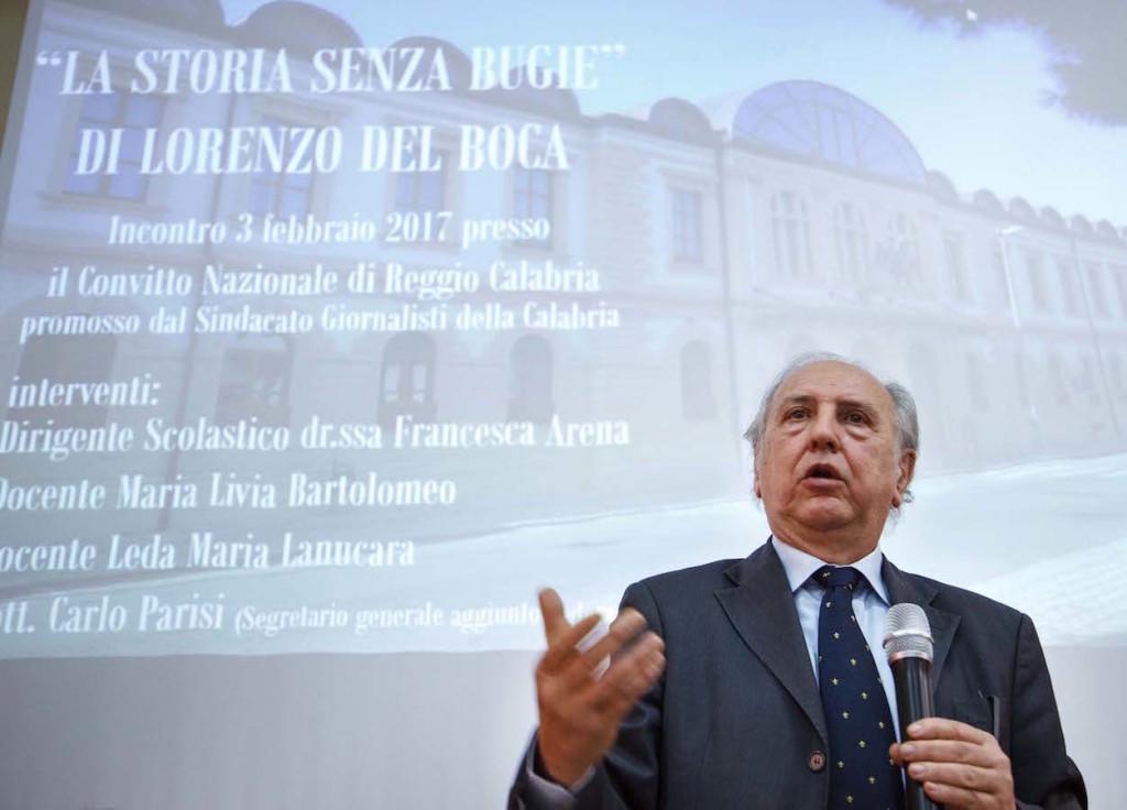 La lezione di storia di Lorenzo Del Boca agli studenti del Convitto Tommaso Campanella