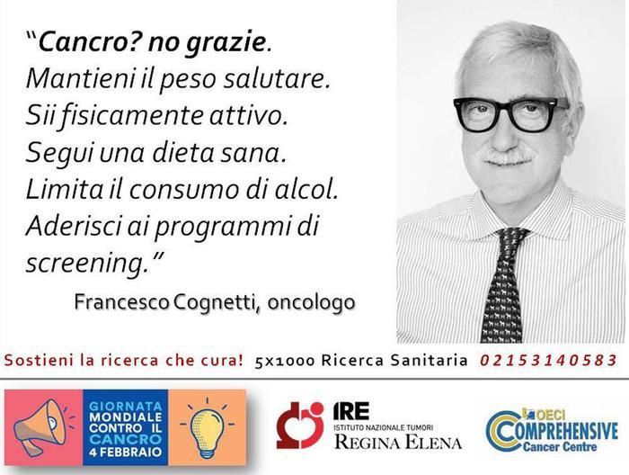 Una delle 11 cartoline per la Giornata mondiale della lotta al cancro
