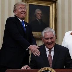 Donald Trump e Rex Tillerson