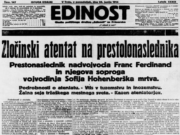 Una copia di Edinost del 1914