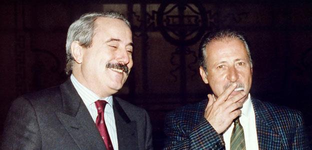 Giuseppe Falcone e Paolo Borsellino