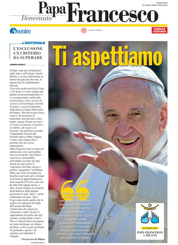 La copertina del primo numero di Benvenuto Papa Francesco