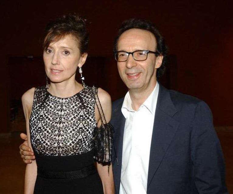 Roberto Benigni e la moglie Nicoletta Braschi