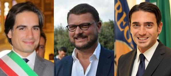 Il sindaco Giuseppe Falcomatà, il sottosegretgario di Stato alla Giuistizia Gennaro Migliore e il presidente del Consiglio Regionale della Calabria Nicola Irto