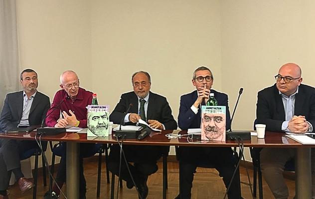 Da sinistra: Vittorio Di Trapani, Giuseppe Giulietti, Raffaele Lorusso e Carlo Parisi