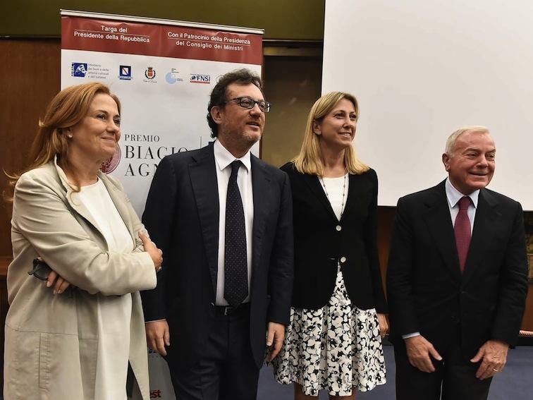 Da sinistra: Monica Maggioni, Mario Orfeo, Simona Agnes e Gianni Letta